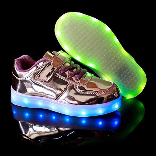 DoGeek LED Schuhe Kinder Damen 7 Farbe USB Aufladen Leuchtend Sportschuhe Led Kinder Farbwechsel Sneaker Turnschuhe für Herren Damen
