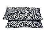 Rajlinen Luxury Egyptian Cotton 600-Thread-Count Sateen Finish 2 Qty Pillow Case King 20''X40'' Zebra Print