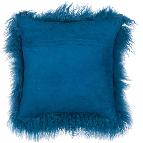 Fur Throw Pillow Covers : SLPR Mongolian Lamb Fur Throw Pillow Cover (24 x 24 , - Import It All