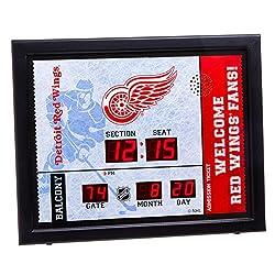 Team Sports America Detroit Red Wings Bluetooth Scoreboard Wall Clock