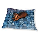 Winterly Christmas Patchwork Dog Pillow Luxury Dog Cat Pet Bed