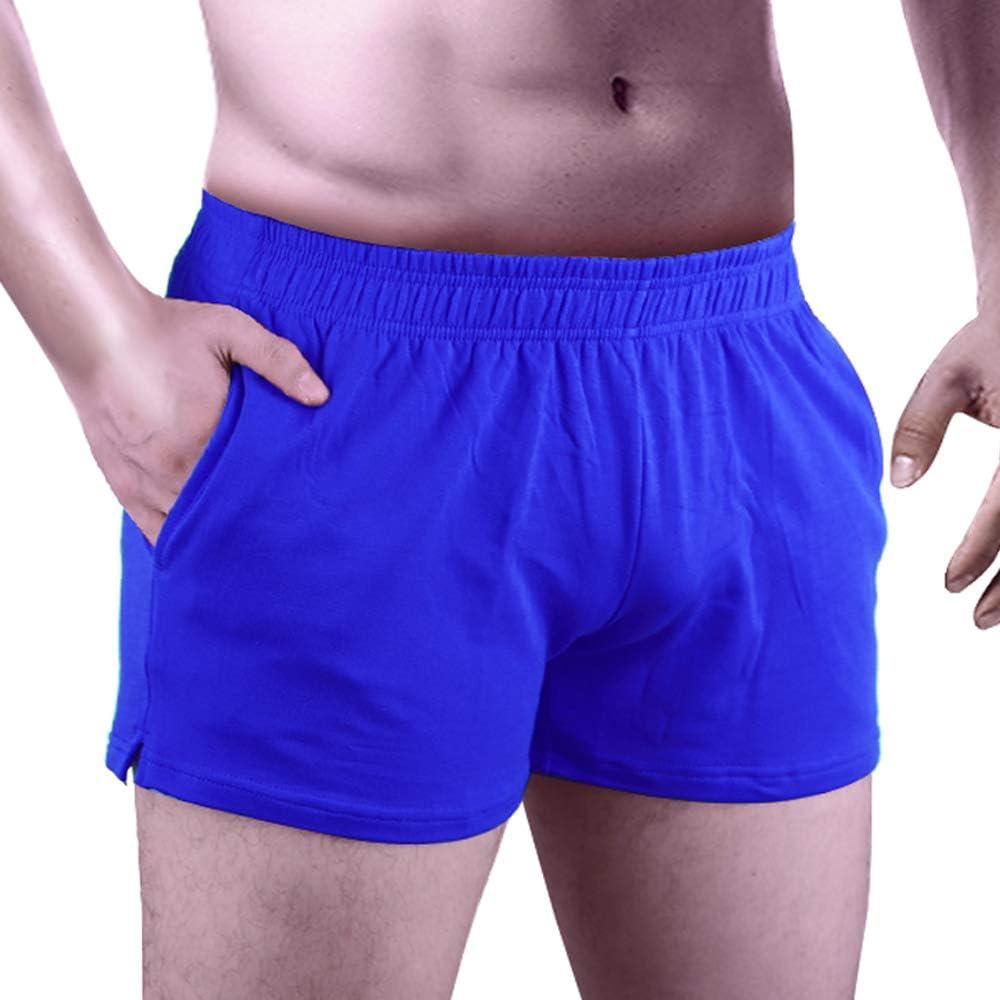 Alivebody Herren Kurze Sporthose Bodybuilding Shorts 3 Inseam mit Tasche Baumwolle