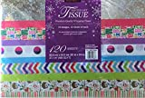 Premium Quality Gift Wrapping Tissue, 120 Designer Sheets