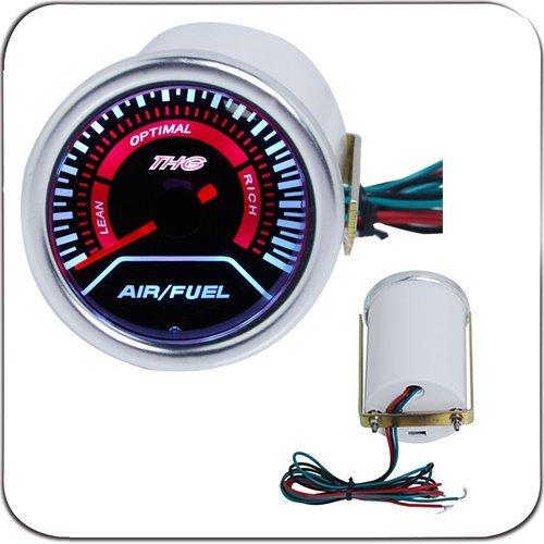 THG 2 52mm LED-Anzeige Luft//Kraftstoff Verh/ältnis Manometer #CAA6148T-2