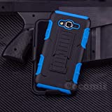 Galaxy A3 Case, Cocomii Robot Armor NEW [Heavy Duty] Premium Belt Clip Holster Kickstand Shockproof Hard Bumper Shell [Military Defender] Full Body Dual Layer Rugged Cover Samsung (Blue)