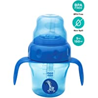 Mee Mee 150ml 2 in 1 Spout and Straw Sipper Cup (Blue)