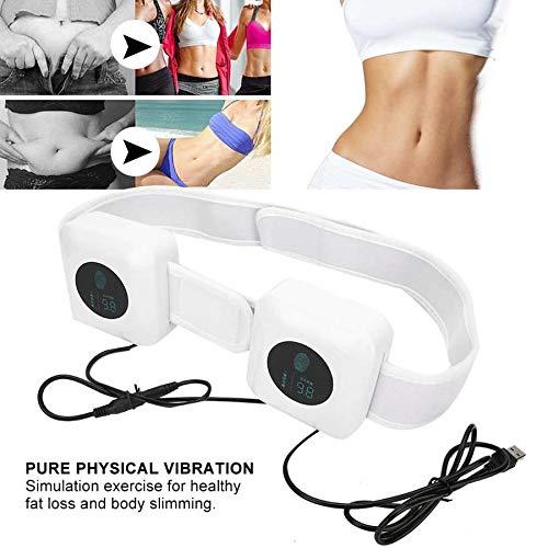 Slimming Belt Dual Motor Usb Vibration Weight Losing Machine For Waist Leg Arm White Body Shape Massage Fat Burning 3