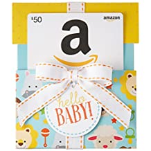 Amazon.ca $50 Gift Card in a Hello Baby Reveal (Classic White Card Design)