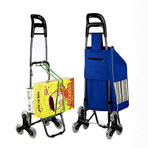 Amazon.com: HCC& Trolley Dolly Shopping Grocery Cart Foldable Climb the stairs Supermarket Handcart 6 Wheel Utility Cart Travel Supplies With seat ...