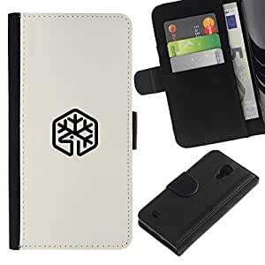 Be Good Phone Accessory // Caso del tirón Billetera de Cuero Titular de la tarjeta Carcasa Funda de Protección para Samsung Galaxy S4 IV I9500 // Buck mark