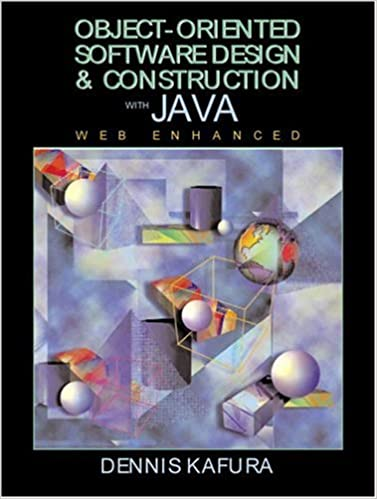 Object Oriented Software Design And Construction With Java Kafura Dennis 9780130112644 Amazon Com Books