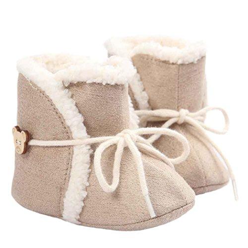 Chaussures Bébé Clode® Bébé doux Sole Bottes de neige molle Crib Shoes Toddler Boot (0~6 Mois)