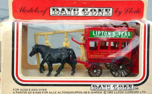 1983 LLEDO DAYS GONE BY LIPTON'S TEA HORSE DRAWN WAGON DELIVERY TRUCK in Diecast (Drawn Delivery Wagon)