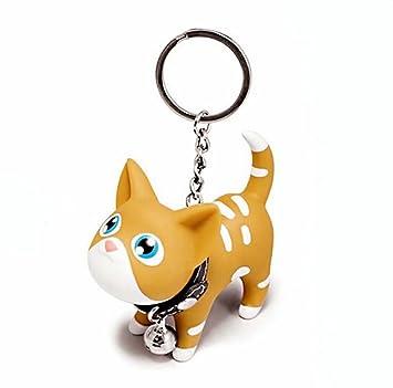 joyjuly Cat gato Llaveros cadena carcasa Adorable bolsa colgante juguete