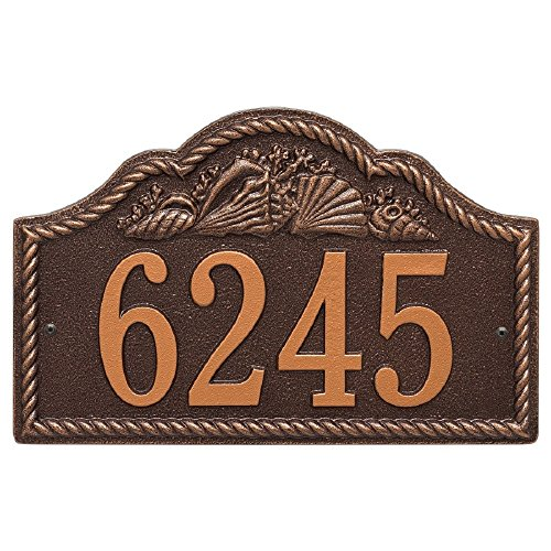 Rope Shell Arch Address Plaque 15.5