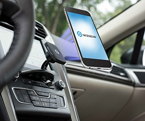 CD-Phone-Mount-WizGear-Universal-CD-Slot-Magnetic-Car-Mount-Holder-for-Cell-Phones-and-Mini-Tablets-with-Fast-Swift-Snap-Technology-NEW-RECTANGLE-HEAD