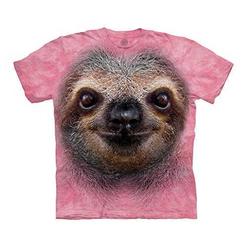 The Mountain Unisex-Adult's Sloth Face, Pink, Large