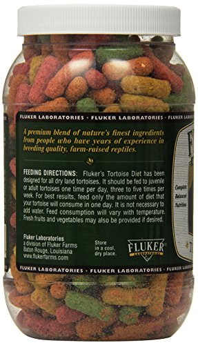 Image of Fluker Labs SFK70021 Tortoise Diet Large Pellet Food, 7-Ounce