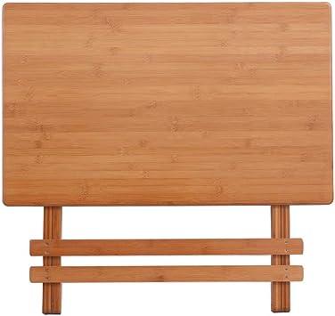 DX Table Pliable Table Murale en Bambou de Riz, Table en ...