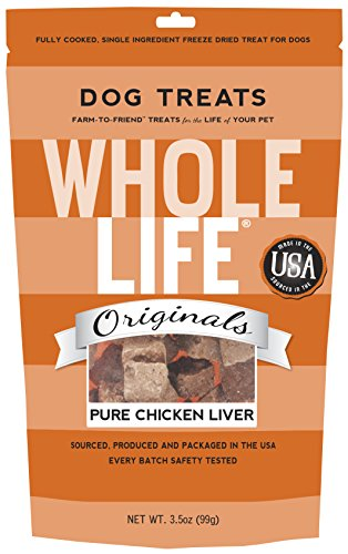 Whole Life Whole Life Pet Single Ingredient USA Freeze Dried Chicken Liver for Dogs 3.5-Ounce