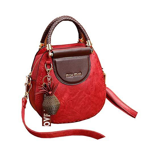 Red Tracolla Fashion Borsa Tote Da Clutch Movement Elegante Donna Bags Multifunzionale Retro Tascabile A Wild Leisure Womens qOSaf8