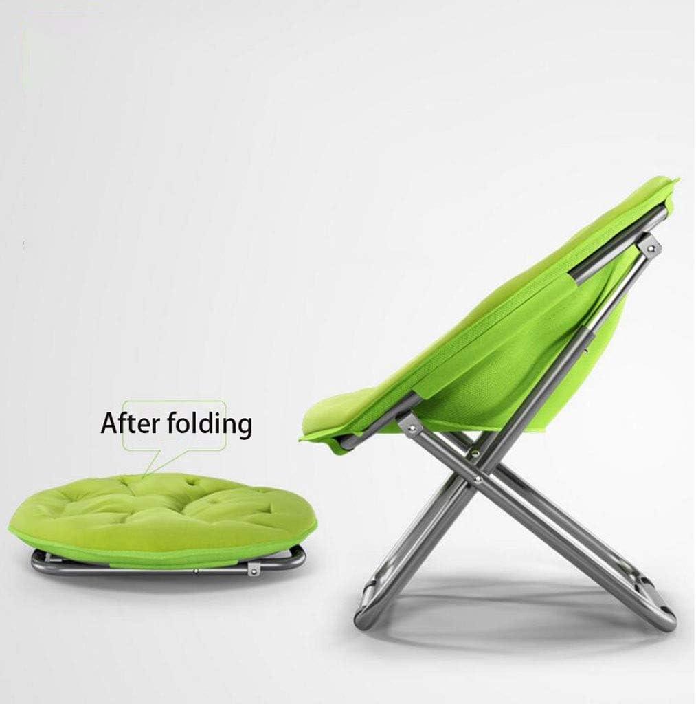 YULAN Chaise Longue Paresseux Pliant Rond détachable canapé arrière Balcon Chambre Salon Quatre Saisons Universel Multicolore 80 * 76 * 51c (Color : Blue) Green