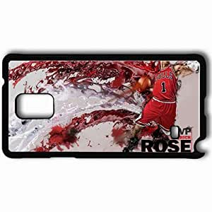 Personalized Samsung Note 4 Cell phone Case/Cover Skin 14680 derrick rose mvp by angelmaker666 d3cyl69 Black