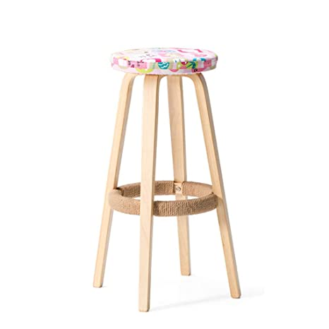 Miraculous Amazon Com Nj Stools Solid Wood Bar Chair Round High Alphanode Cool Chair Designs And Ideas Alphanodeonline