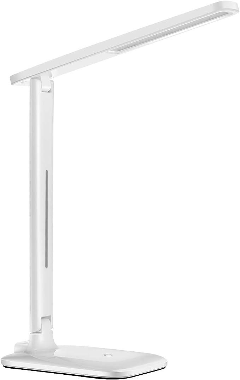 Regolazione Luminosit/à Illimitata Batteria Integrata 3200 mAh Con Supporto Per Cellulare Ai-Tech Lampada da Scrivania Ricaricabile 28 Led Tecnologia Protezione Occhio 0 UV Light