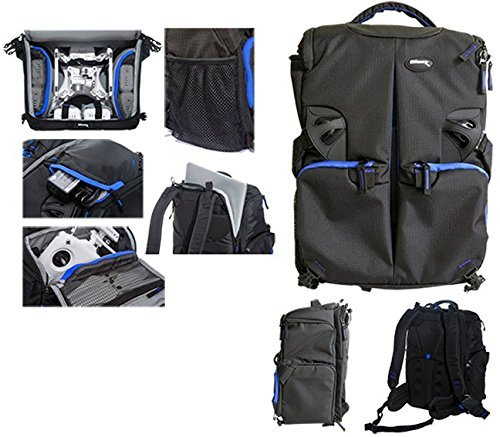 Ultimaxx Backpack for DJI Quadcopter Drones, Phantom 3 Professional, Phantom 3 Advanced, Phantom 3 Standard, DJI Phantom 2 Vision Plus, DJI Phantom 1, Phantom 2, Fits Extra Accessories and Laptop