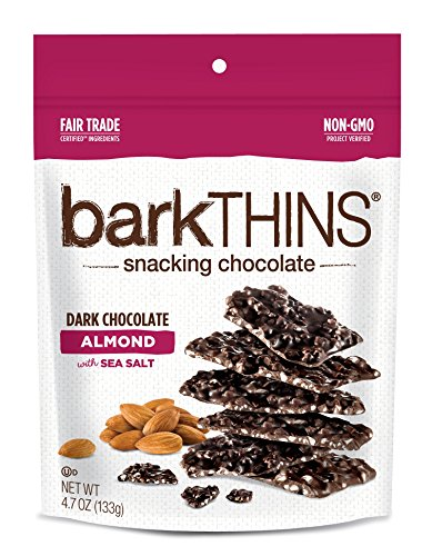 barkTHINS Snacking Dark Chocolate, Almond with Sea Salt, 4.7 Ounce -