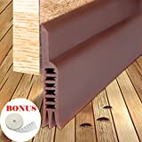 LPPROFE Energy Efficient Door Under Seal Strip Bottom Weatherstripping Noise Blocker Soundproof Adhesive 2'' Width x 41'' Length Brown