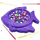 Package Included:  ★1×fishing board ★4×fishing rods ★21×colorful fishes.  Let's go fishing game ►Turn it on with a small switch (need AA batteries:not included)and the little fishes open and close their mouths and the fishing board slowly spins with ...