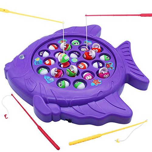 tronic Fish Board Game Educational Fishing Toys with Music Great Gift for Kids Children 3 4 5 Years Old ()