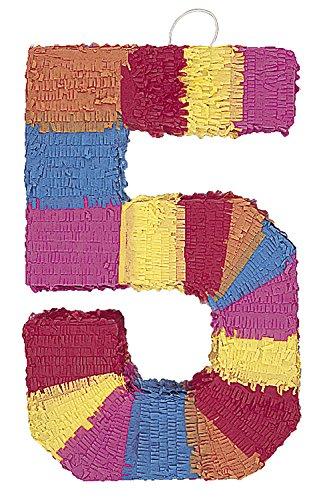 Multicolor Number Pinata - Five -