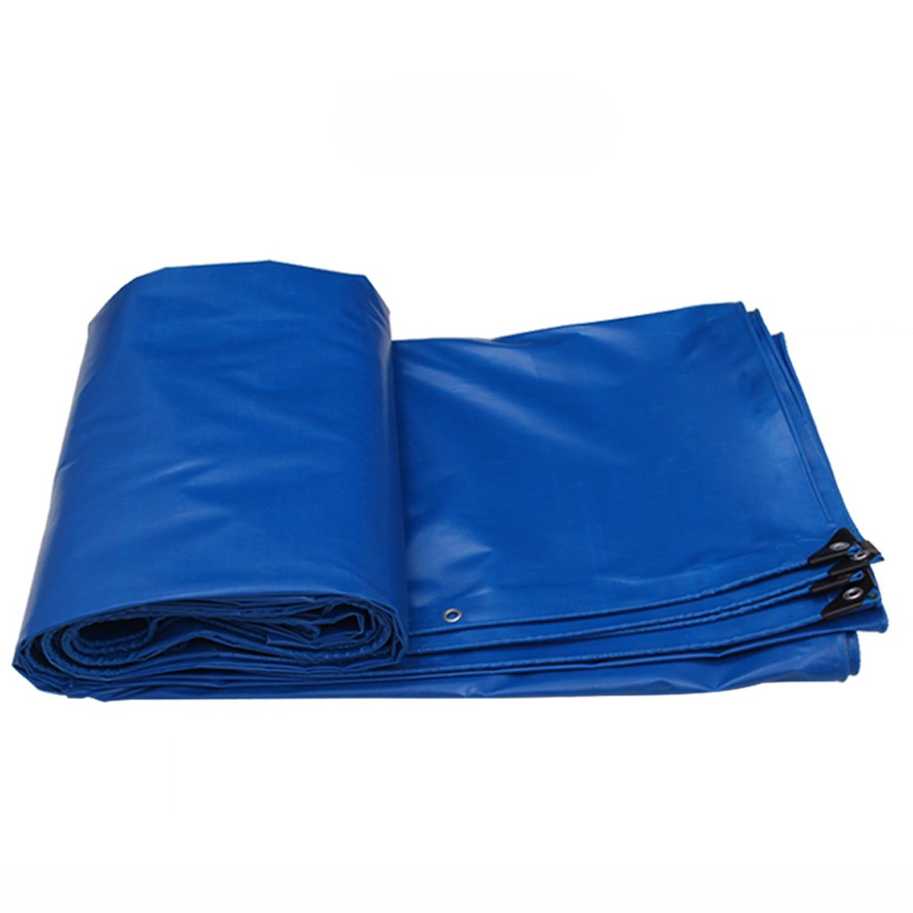 bluee 32m TLMYDD Thick Waterproof Poncho Canopy Tarpaulin Outdoor Shade Cloth Tarpaulin Sunscreen Cloth Tarpaulin Truck Tarpaulin Canvas Tarpaulin (color   Army Yellow, Size   6  4m)