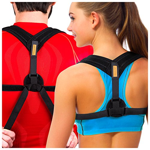 Tresalto Women Back Posture Corrector Brace with Effective, Orthopedic, Comfortable, Discreet Under Clothes Design by Tresalto