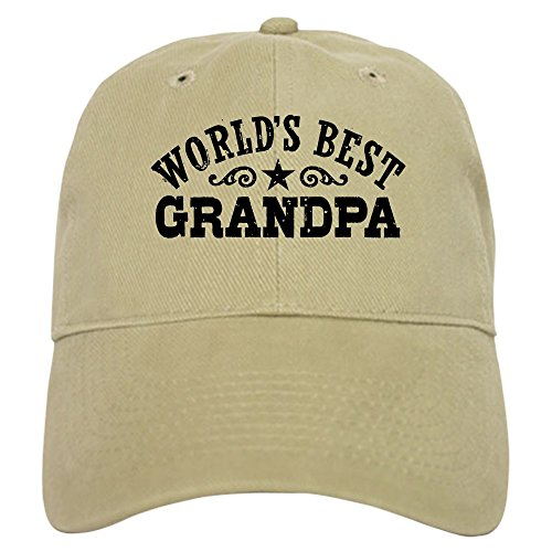 CafePress - World's Best Grandpa - Baseball Cap with Adjustable Closure,...
