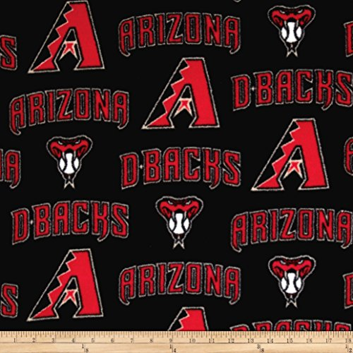Fabric Traditions 0458216 MLB Arizona Diamondbacks Fleece Fabric by The Yard