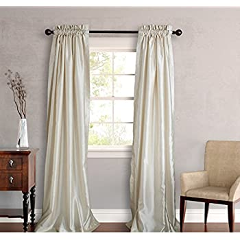 Amazon Com Two Piece Ivory 96 Inch Faux Silk Lined