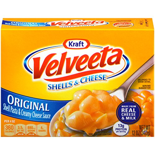 Top velveeta shells and cheese