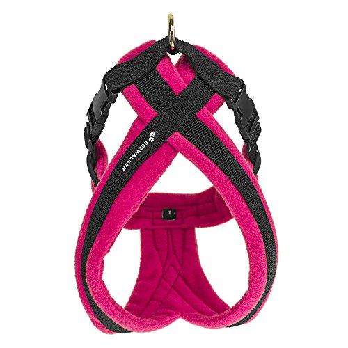 Fleece Dog Harness (EEZWALKER Harness (X-Large, Pink))