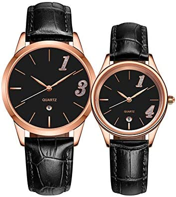 2PCS Men's And Women's Watch Matching Set, His Or Hers Quart