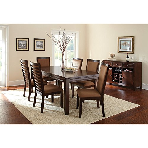 Steve Silver Cornell Dining Table with 18-Inch Extension Leaf, Espresso