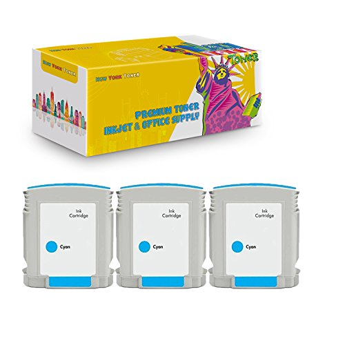 New York TonerTM New Compatible 3 Pack C4804A HP 12 High Yield Inkjet For HP Businessjet 3000 . -- Cyan