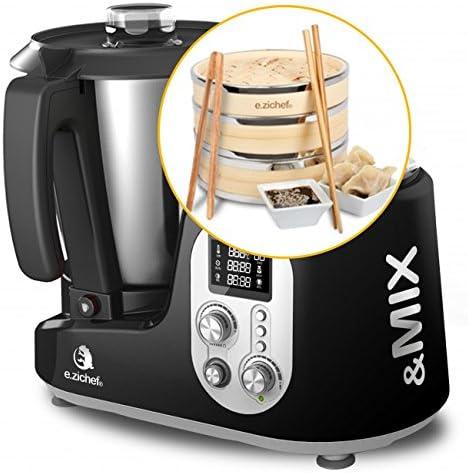 Robot de cocina E.zichef & MIX Black Bamboo: Amazon.es: Hogar