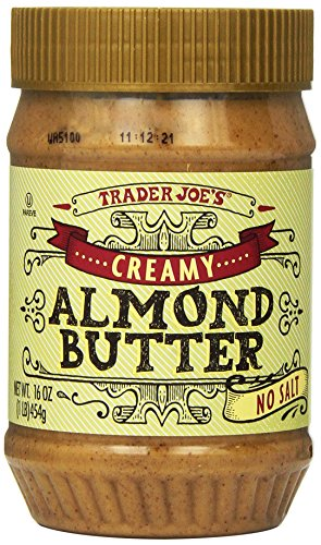 Trader Joes Almond Butter Creamy Unsalted 1lb Creamy and Rich Great on Toast,bagels,muffins and Other Breakfast Goodies !!!