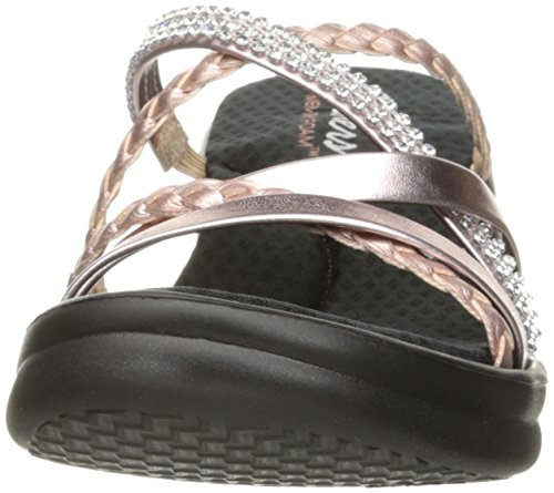 Skechers Cali Women's Rumblers-Social Butterfly Wedge Sandal,Rose Gold,7.5 M US by Skechers (Image #4)
