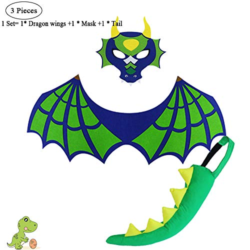 Dinosaur Wings and Tail Costume for Toddler Kids