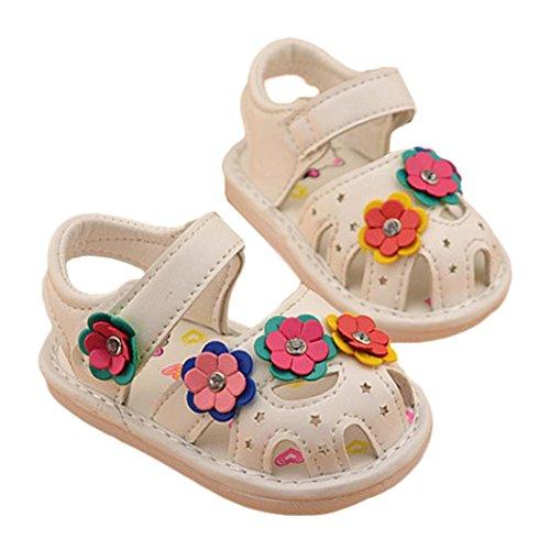 Clode® Baby Mädchen Junge Kinder Blumen Schuhe Prinzessin Fashion Single Schuhe Weiß